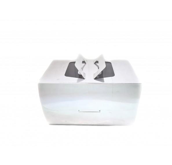 "Cake Box Silver (Window) 10X6X6"" 2Pcs"