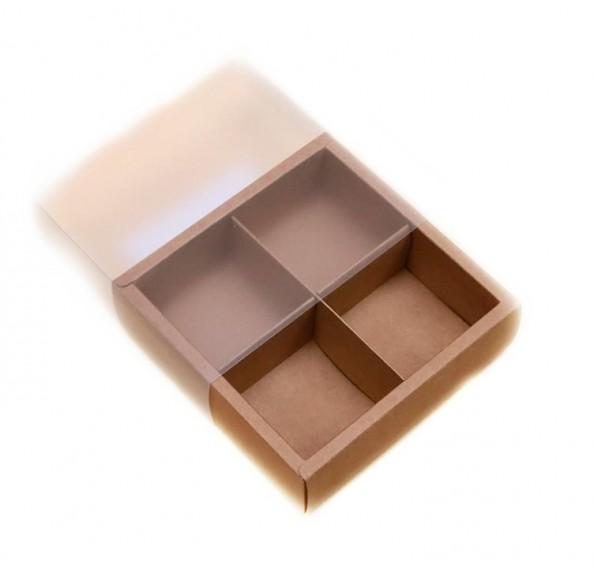 Kraft Pvc Mooncake Box (4 Hole) 5pcs