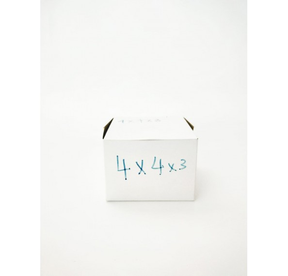 4 X 4 X 3 White Cake Box 1pc