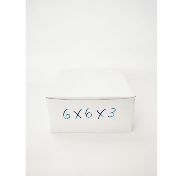 6 X 6 X 3 White Cake Box 1Pc