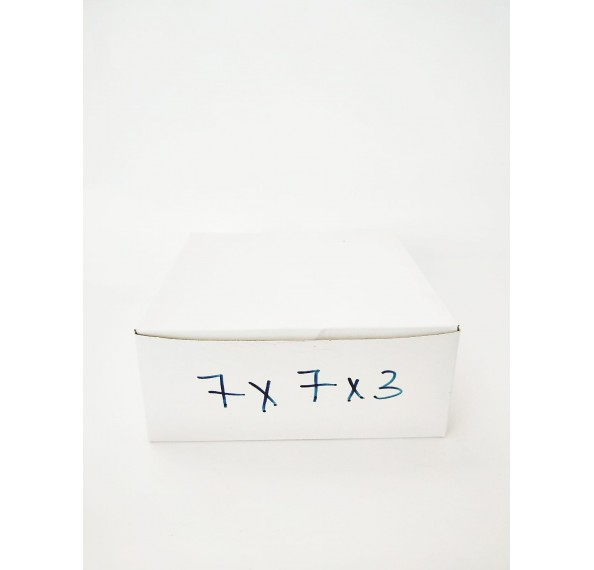 7 X 7 X 3 White Cake Box 1Pc