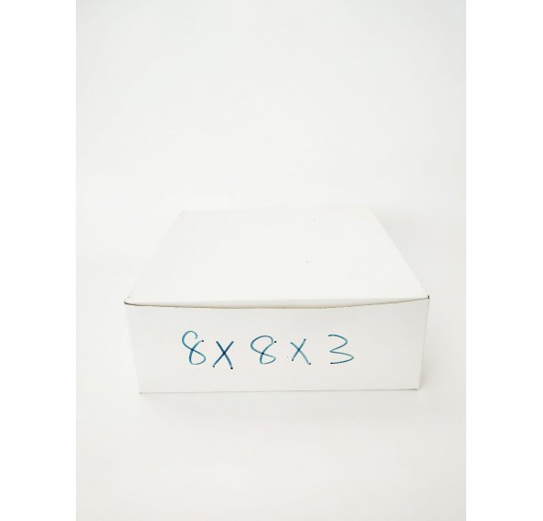8 X 8 X 3 Plain Cake Box 1Pc
