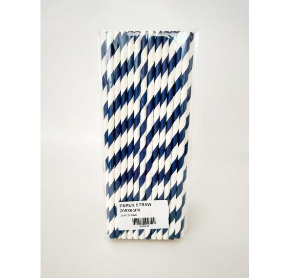 Paper Straw 200x6mm 25pcs