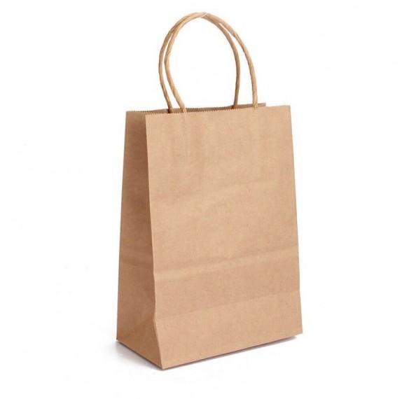 Carrier Bag Kraft (M) 10pcs