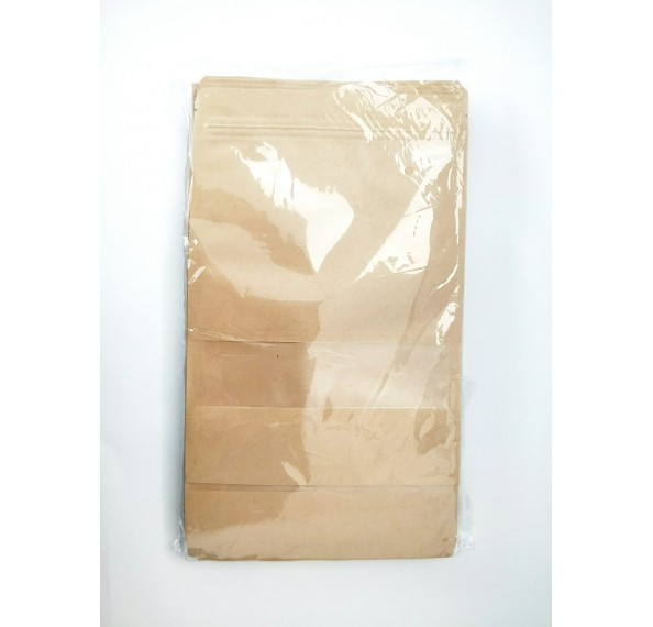 Kraft Paper Bag + Window (18*26+4) 50PC