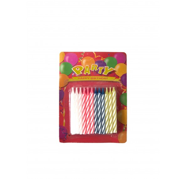 Candles Spiral Birthday 24pc/Set