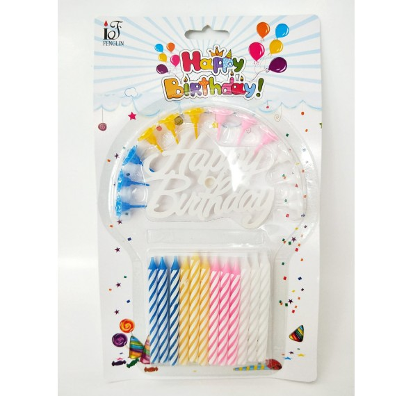 SR038 Birthday Candles (White Packed)