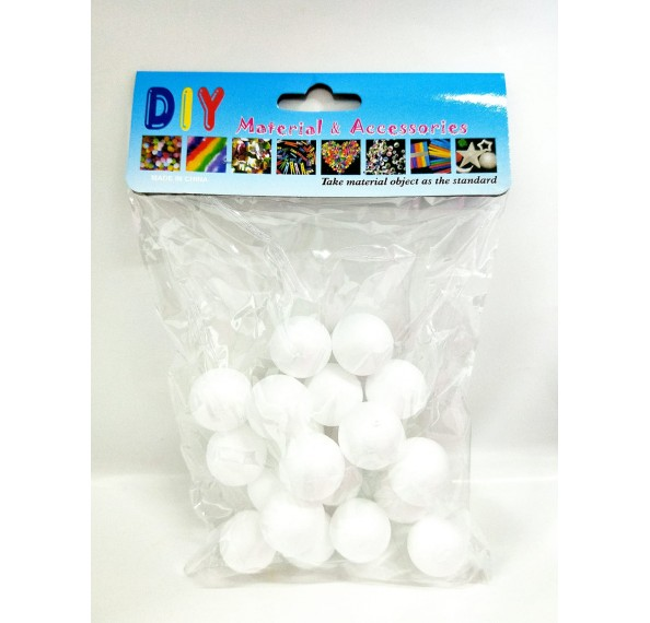 "Styrofoam Ball 1"" 20PCS"
