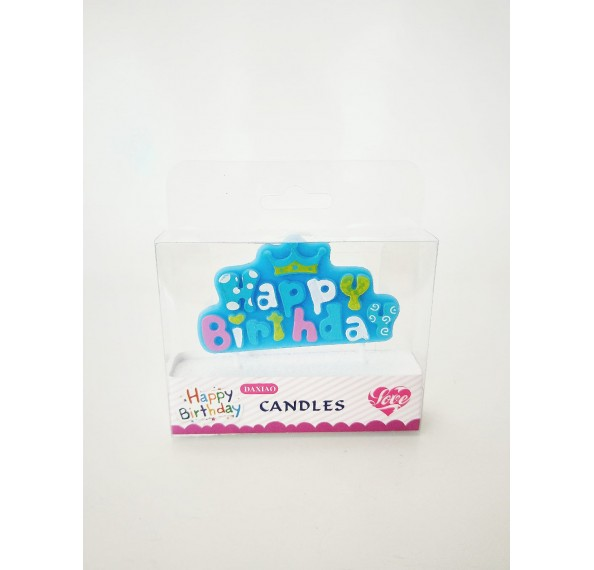 Heart Shape Birthday Art Candle (Pink,Blue)
