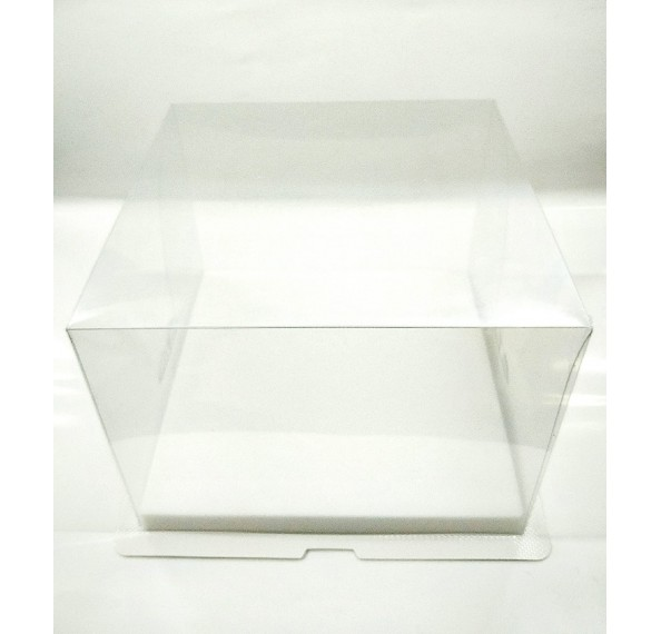 PET Base PVC T/P Box 8x8x6 Inch (White)