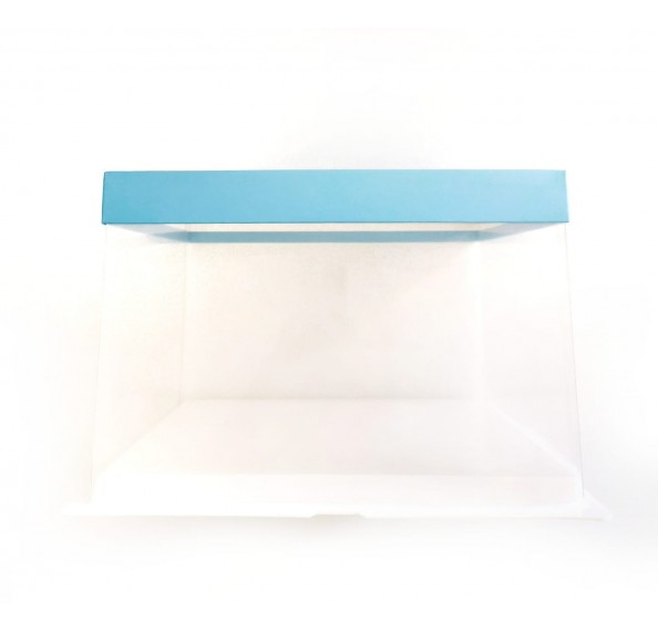 PET Base PVC T/P Box 26x26x17cm (Blue)