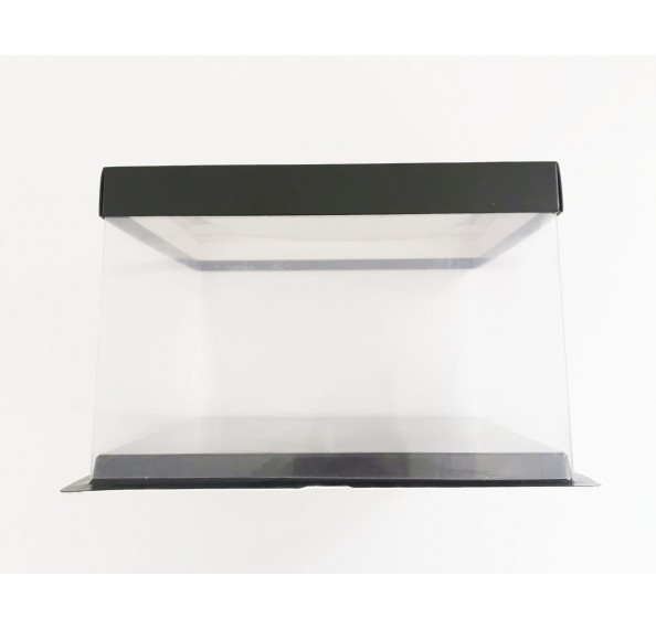 PET Base PVC T/P Box 26x26x17cm (Black)