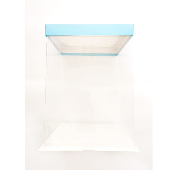 PET Base PVC T/P Box 22x22x30cm (Blue)