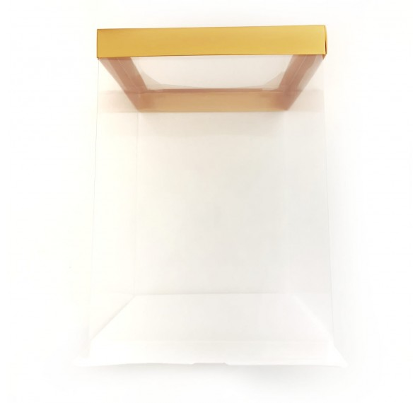 PET Base PVC T/P Box 22x22x30cm (Gold)