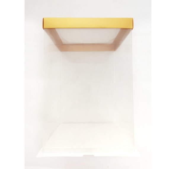 PET Base PVC T/P Box 24x24x35cm (Gold)