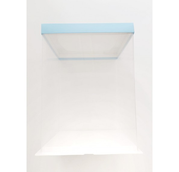 PET Base PVC T/P Box 26x26x35cm (Blue)