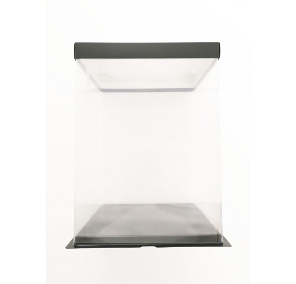 PET Base PVC T/P Box 26x26x35cm (Black)