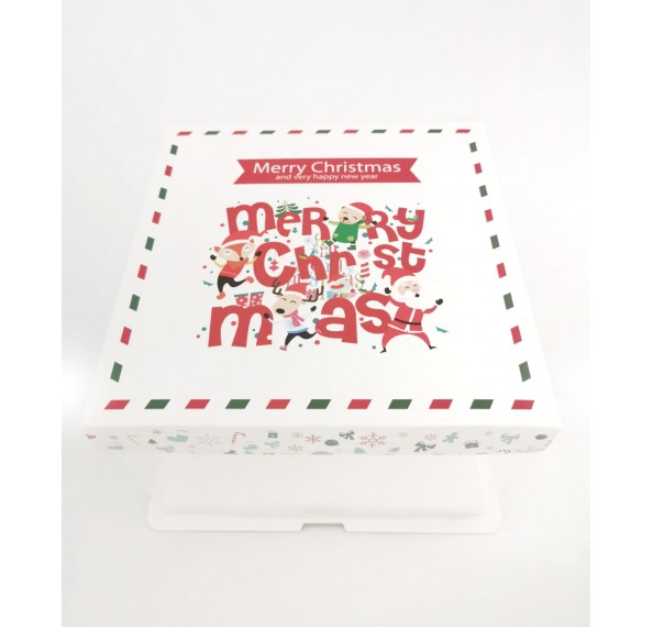 PET Base PVC T/P Box 22x22x15cm (Christmas)