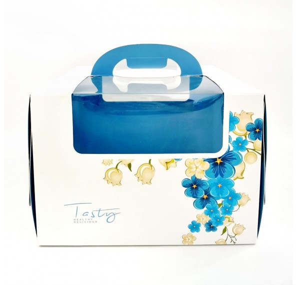 Cake Box With Window 24x24x17cm (Floral)