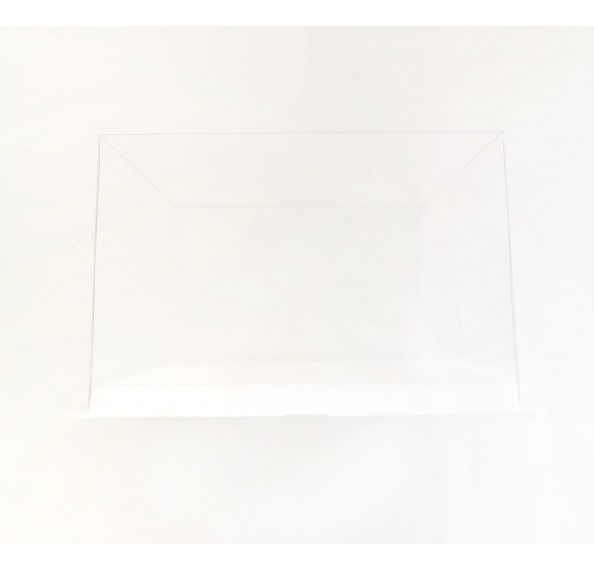 PET Base PVC T/P Box 26x26x17cm (White)