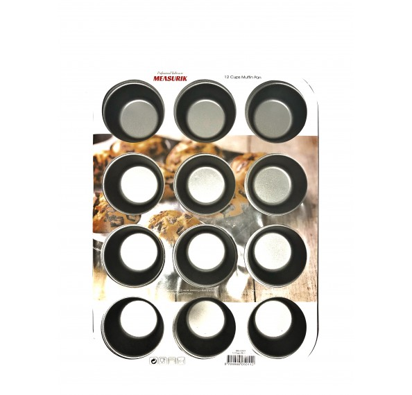 Measurik Muffin Pan 12 Cup 35 x 26.5 x 3cm