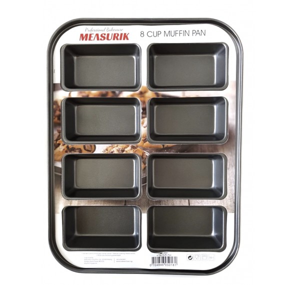 Measurik Muffin Pan 8 Cup 39x29x3.8cm