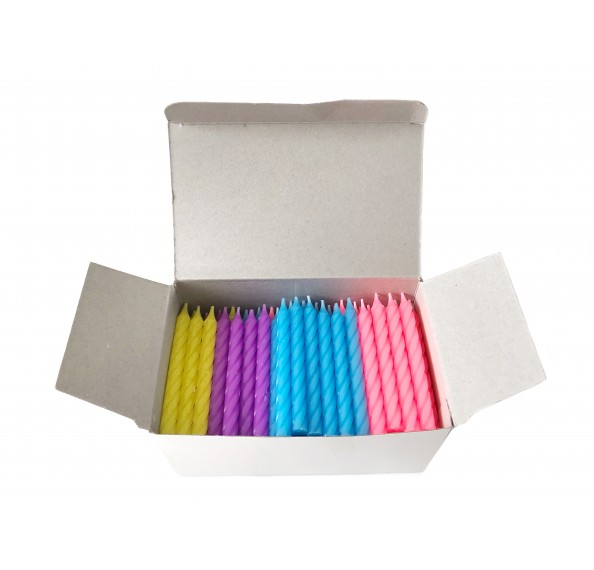Candles Solid Assorted Color 8cm 144pcs