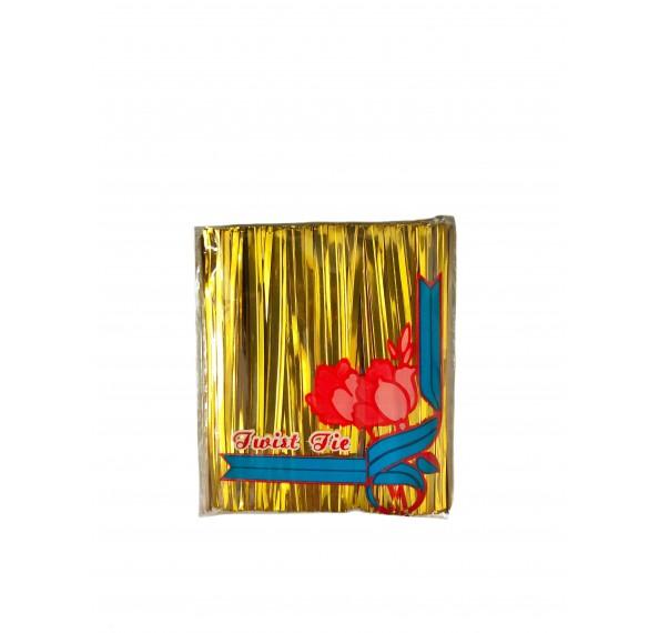Twist Tie 8cm Gold