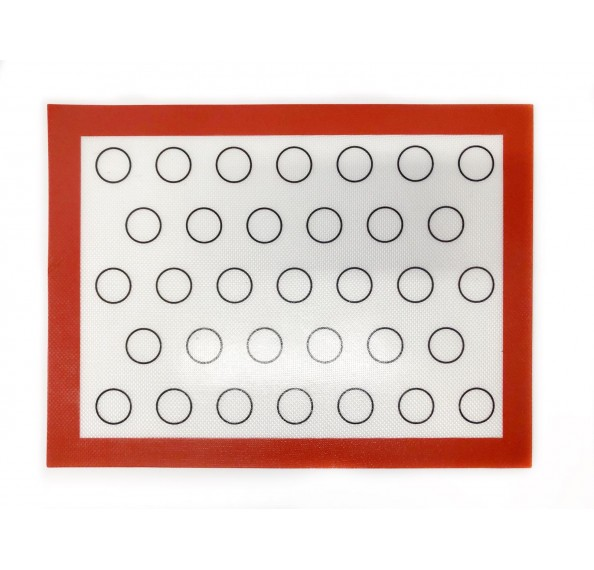 Red Border Macaroon Silicone Mat 40x30cm