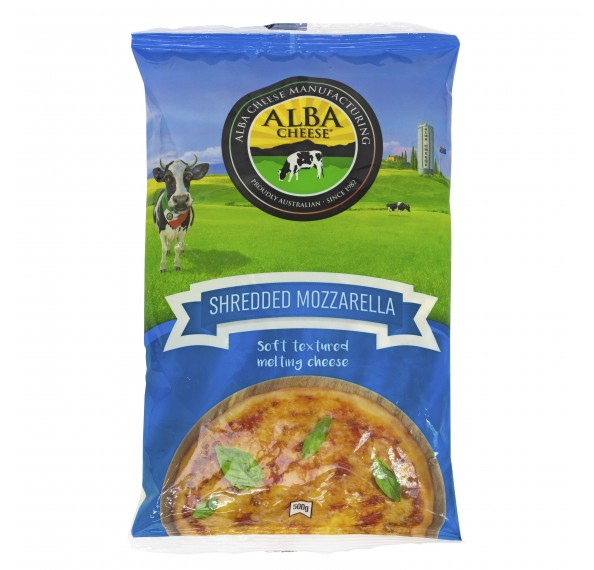 Alba Shredded Mozzarella Cheese 500G