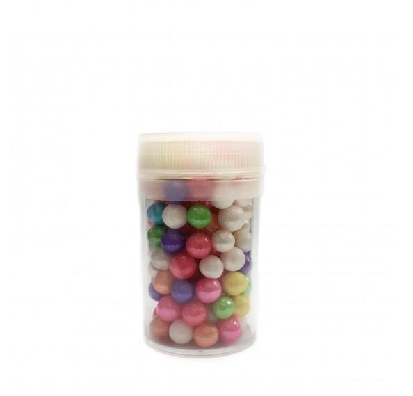 Mixed Sugar Pearl 6mm 40g