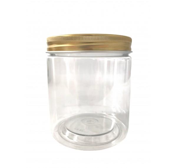 SP 8073 PET Jar Alum Gold Cap