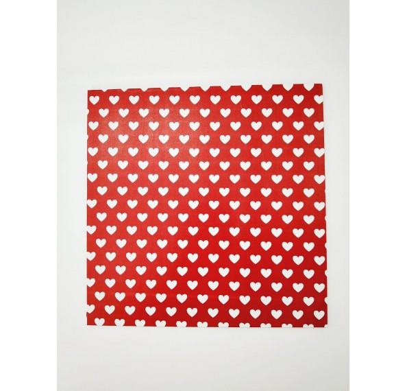 "PE Coated 8"" Square Cake Board (Red)"