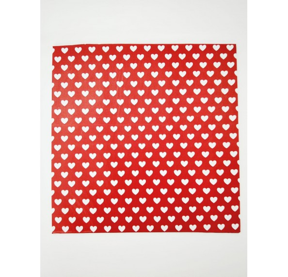 "PE Coated 10"" Square Cake Board (Red)"
