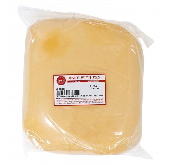 Cottura Rolled Fondant Pastel Orange 1KG