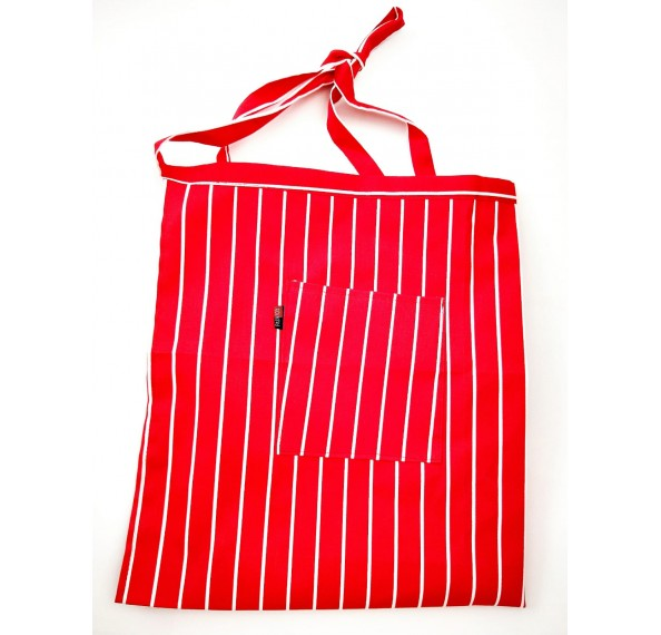 Apron Half Red & White Striped