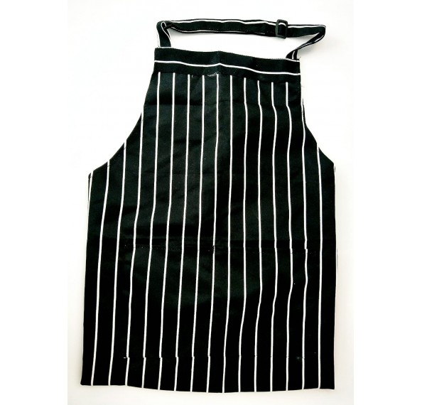 Apron Full Black & White Striped