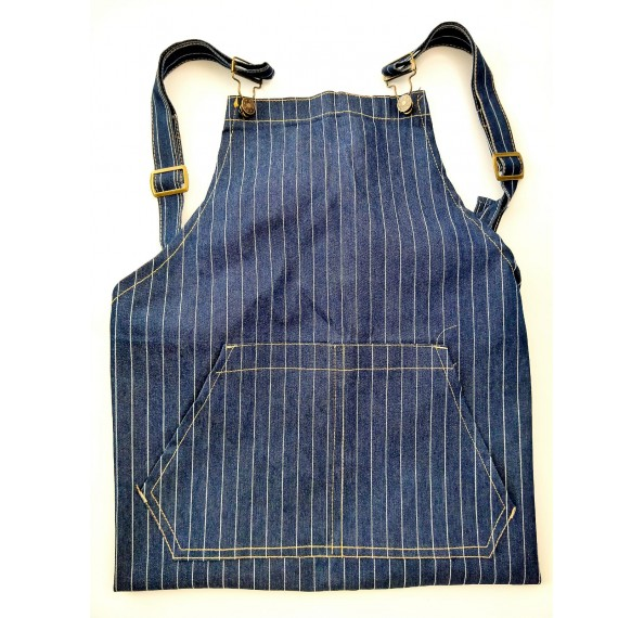 Apron Full Blue Denim