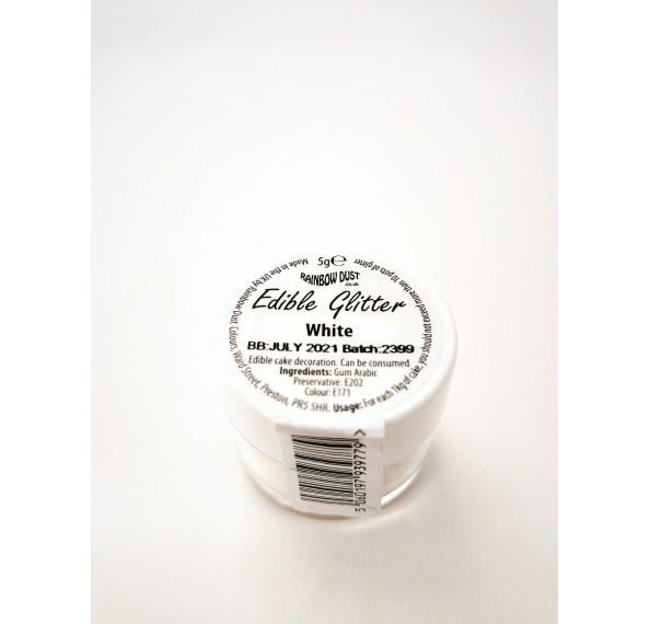 Edible White Glitter 5G