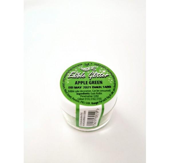 Edible Apple Green Glitter 5G