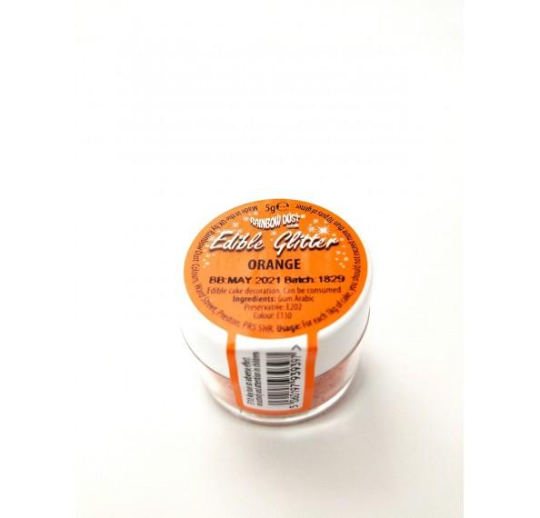 Edible Orange Glitter 5G
