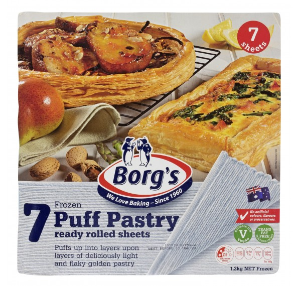 Borg's Puff Pastry Sheet 7'S 1.2KG
