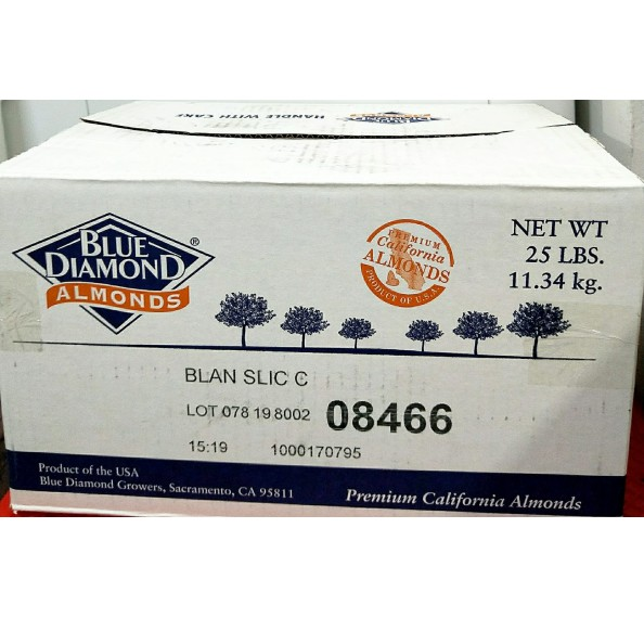 Almond Sliced USA 11.34kg