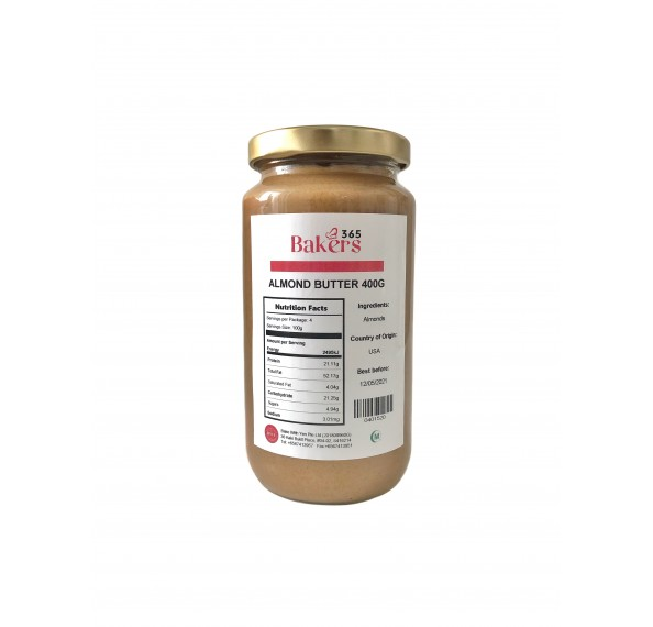 Bakers 365 Almond Butter 400g
