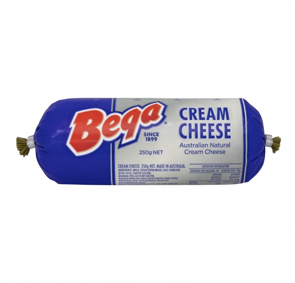 Bega Cream Cheese Chubes 250G