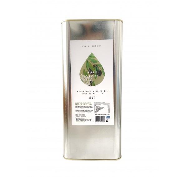 Pure Drops Extra Virgin Olive Oil 5L