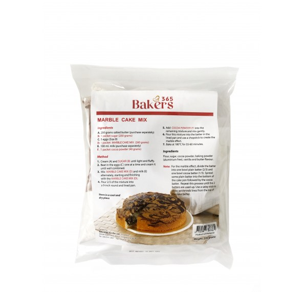 Bakers 365 Marble Cake Mix 550g