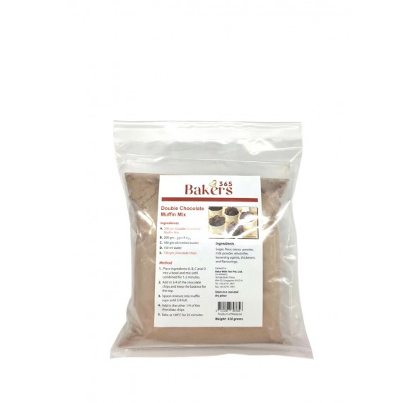 Bakers 365 Double Chocolate Muffin Mix 630g