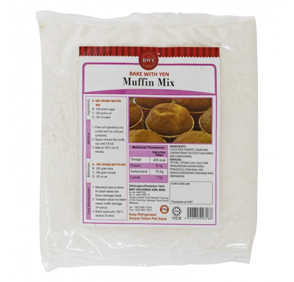 BWY Plain Muffin Mix 500g