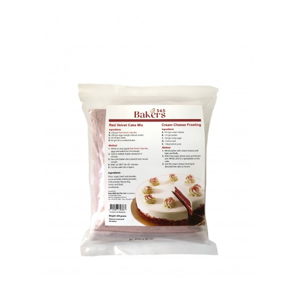 Bakers 365 Red Velvet Cake Mix 500g